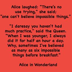 Alice in Wonderland Impossible Dr Lori Todd